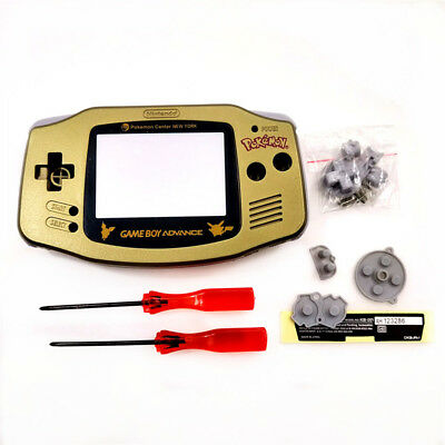 Gold Picachu Edition Housing Shell Case for Game Boy Advance GBA Game Console