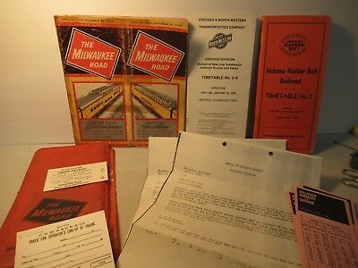 Misc RR Papers Bulletin Milwaukee Road Union Wages Raffle Vintage Ticket