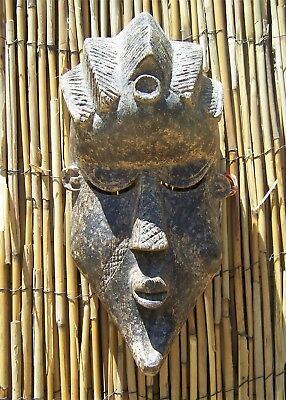 "African Art Bassa Mask From Liberia 11"" Tall"