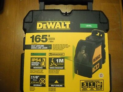 Dewalt DW088CG Self Levelling Green Cross Line Laser with Case NEW