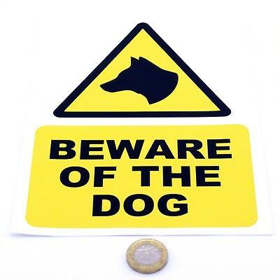 Beware of the Dog Printed Vinyl Sticker Multiple Sizes Available