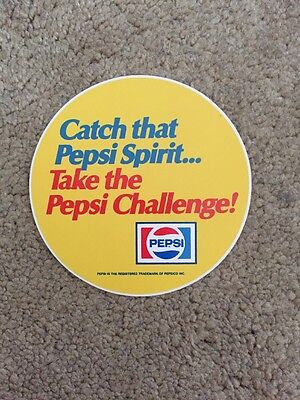 Original  1970s TAKE THE PEPSI CHALLENGE Decal Peel Back Unused DECAL