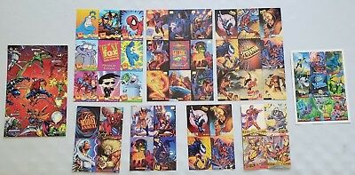Lot of 9 Promo Uncut Marvel Trading Cards 1994 1995 X-Men Spider-Man Metal