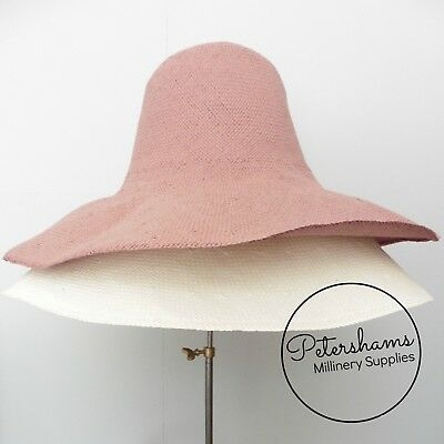 Smooth Extra Large Paper Capeline Hat Body for Millinery - Ivory or Dusky Pink