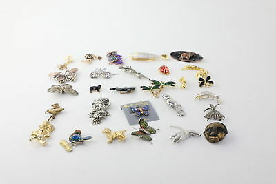 30 x VINTAGE QUIRKY BROOCHES inc. Bugs Butterflies Fish Owl Cat Squirrel & More