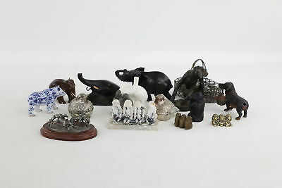 Job Lot of Vintage Decorative Animal Figurines Mixed SPELTER painted Dachshund
