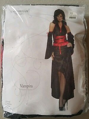 I NEW Adult Underwraps Vampira Halloween Costume Size S