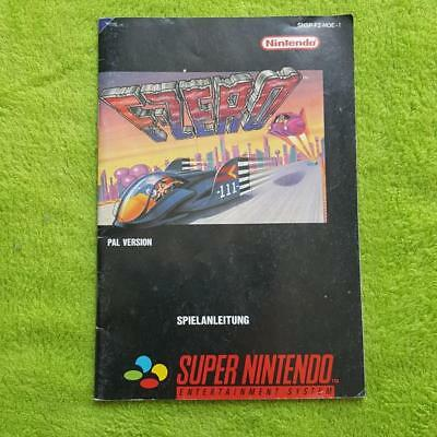 SNES - F-Zero Anleitung Manual Booklet