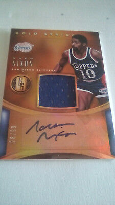 Autographic Jersey Card Norm Nixon Gold Standard 15-15 Gold Strike
