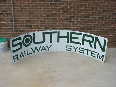 "HUGE Southern Railroad Railway System Sign-Aluminum 105"" x 24"" Rare Sign"