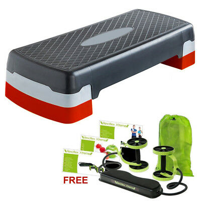 Adjustable Exercise Aerobic Step Fitness Yoga Gym Workout Stepper Board