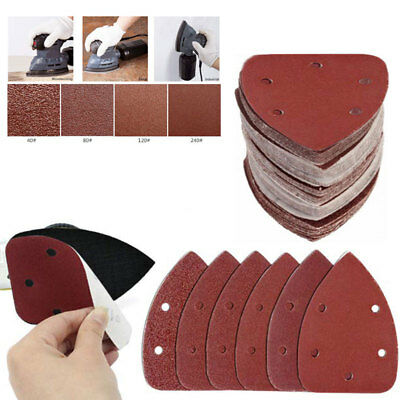 40pcs Mouse Sanding Sheets to Fit Black and Decker Detail Palm Sander All Grades