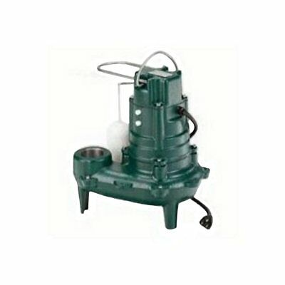 Zoeller 1/2 HP Automatic Submersible Sewage Pump, 115 Voltage, 50 GPM