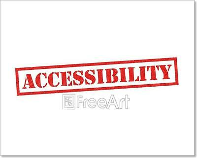 Accessibility Art Print Home Decor Wall Art Poster - H