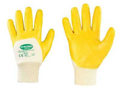12-144 Pair Nitrile Work Gloves Safety Gloves Yellow Stronghand