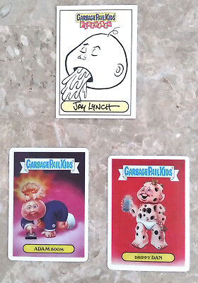 Garbage Pail Kids Flashback Sketch Card by Jay Lynch (RARE) & Loco Motion Cards