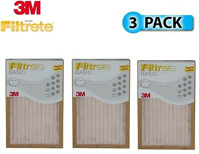 Filtrete Basic 3M Air Furnace Filter White Pleated 3 Pack  (9 Months Supplies)
