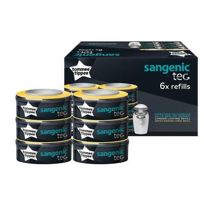 Tommee Tippee Sangenic Nappy Bin Refill Cassettes - 6 Pack