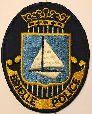 Brielle Monmouth County New Jersey NJ Police Sheriff Patch sailboat boat