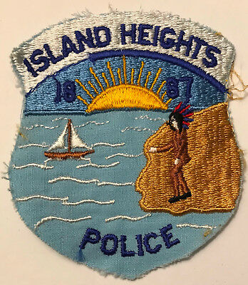 Island Heights Ocean County New Jersey NJ Police Sheriff Patch sailboat indian