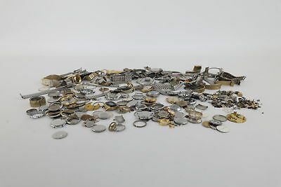Job Lot of Vintage Ladies & Gents Watch Straps, Cases, Dials & Spare Parts Mixed
