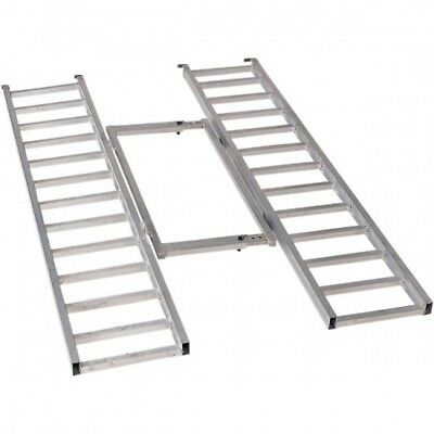 Tri-fold adjustable aluminum ramp 76 - Moose utility division AR7652