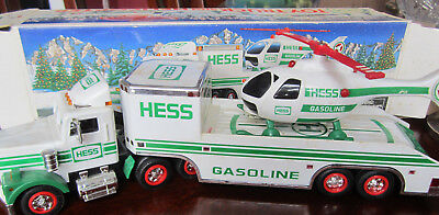1995  Hess Gasoline Truck And Helicopter  With Box  Head And Tail Lights