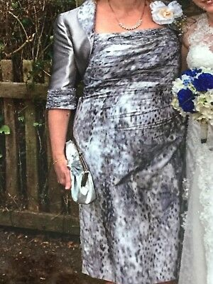 john charles mother of the bride silver size 16 dress and jacket worn once
