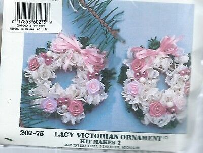 """Beautiful  """"Lacy VICTORIAN Ornament"""" - Set Of Two - Older Bead Kit"""