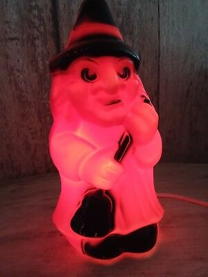 Old Lighted Blow Mold Witch 10''  Empire Carolina Enterprises! Great Condition!