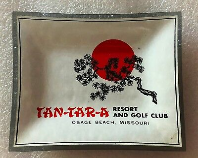 Vintage Tan Tar A Resort and Golf club Osage Beach Missouri Glass Ashtray
