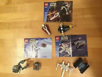 Lego Star Wars Mini Building Sets 4484 4486 4487 Complete With