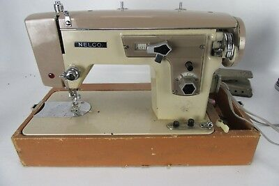Vintage Nelco Ym-7 Electric Sewing Machine Motor Issues Comes With Pedal
