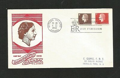 Canada Fdc George Cachet 401/4 1Cent, 4Cent Camed