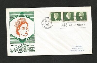 Canada Fdc George Cachet 402 2Cent Camed