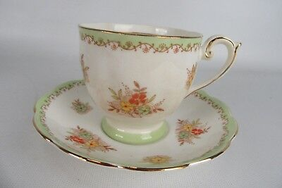 Vintage Teacup & Saucer Set Fine Bone China Bell Made in England