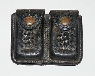 Vintage Black Leather G.F. Cake Ammo Pouch Holster Berkeley, Calif.