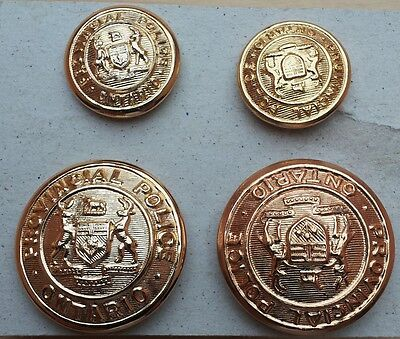 4 x antique Provincial Police Ontoario Uniform buttons _ Uniformknöpfe Kanada
