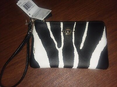 Authentic coach wristlet. Zebra pattern. NWT