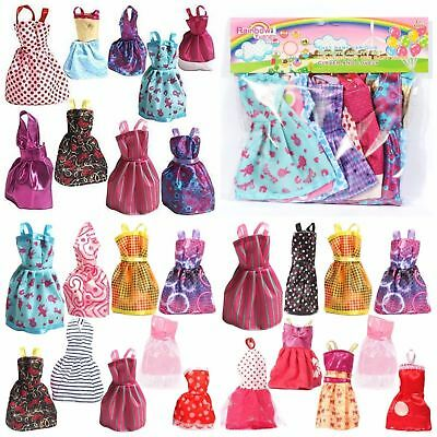 Barbie Dress Up Clothes Lot Cheap Doll Accessories Handmade Clothing Pack of 9 3