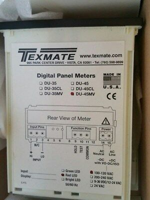 "Texmate Du-45Mv Digital Panel Meters ""nib"""