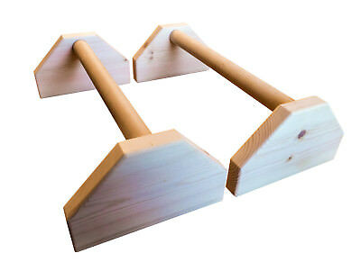 Wooden 20'' GYMNASTICS Parallettes Calisthenics Crossfit Handstand push up bars
