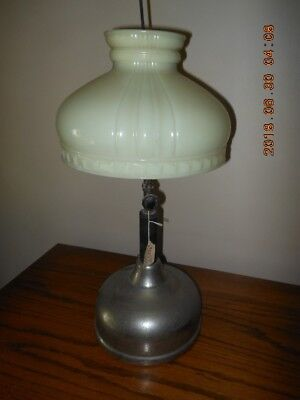 Coleman Quick Lite Lamp with Original Opal Glass #443 Kreme-Lite Shade.