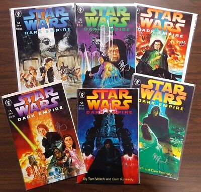 Star Wars Dark Empire #1 2 3 4 5 6 each signed by Dave Dorman with Notarized WOS