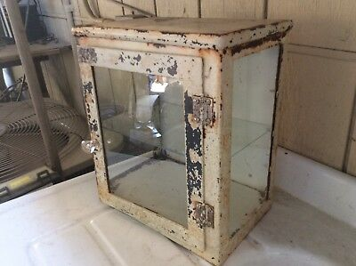 Antique apothecary table top cabinet , Great patina