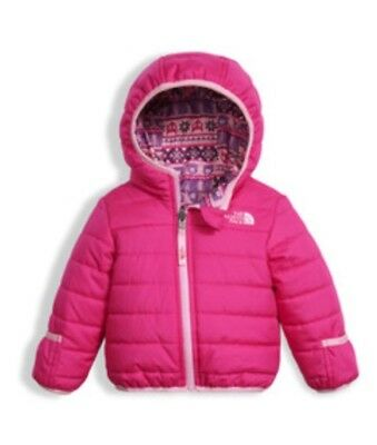 The North Face Perrito Infant Jacket 12-18 Months w/HoodPink Reversible EUC