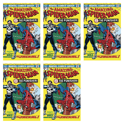 True Believers Spiderman 129 Punisher First Appearance Reprint Presale Lot Of 5