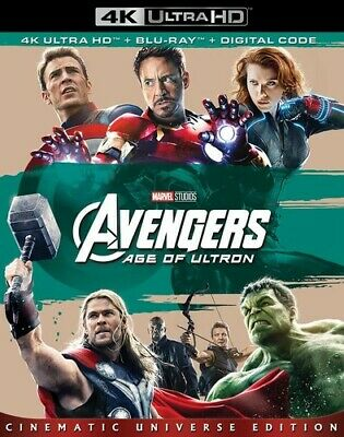 Avengers: Age Of Ultron - 2 DISC SET (2018, Blu-ray NEUF) (RÉGION A)
