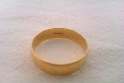 Beautiful Vintage 18ct Gold Mens Wedding Ring B.Bros Circa 2009