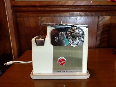 Vintage 1960s Hoover Electric Can Opener Retro Kitchen Tin Mid Century Good Cond